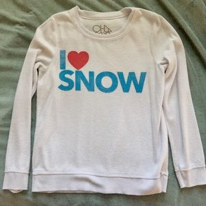 Chaser I Heart Snow Sweater Top